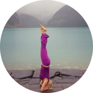 Sophie Machel Shull, Headstand, Yoga, Lake Louise, Canada